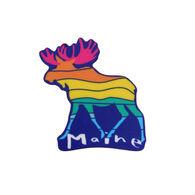 Blue 84 Havens Moose Maine Mini Sticker