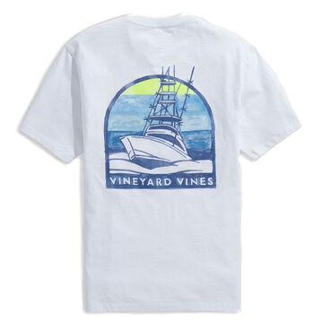 Vineyard Vines Mens Sunset Cruise Short-Sleeve Pocket T-Shirt