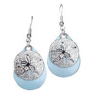 Eye Catching Jewelry Women's Sand Dollar Sea Green Earring
