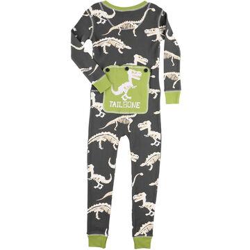 Lazy One Toddler Boys Tail Bone Dinosaur Flap Jack
