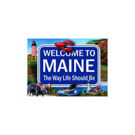 Maine Scene Maine Welcome Sign Playing Cards