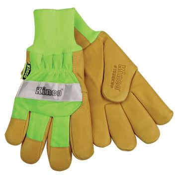 Kinco Mens Pigskin Waterproof High Visibility Glove