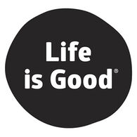 Life is Good Black Dot Magnet