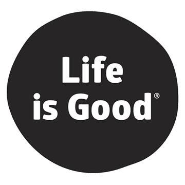 Life is Good Black Dot Magnet