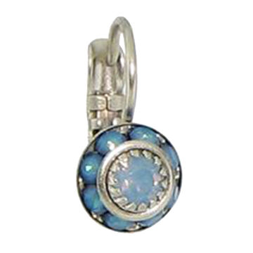 Baked Beads Womens Crystal Disc Earring