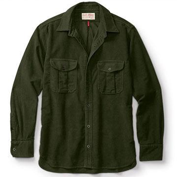 Filson Mens Moleskin Seattle Long-Sleeve Shirt