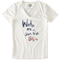 Life is Good Women's Wake Me at Sunrise Pocket Vee Sleep Shirt