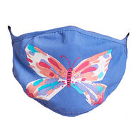 Hatley Little Blue House Adult Butterfly Non-Medical Reusable Face Mask