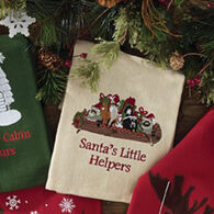 Park Designs Santas Little Helpers Embroidered Dish Towel