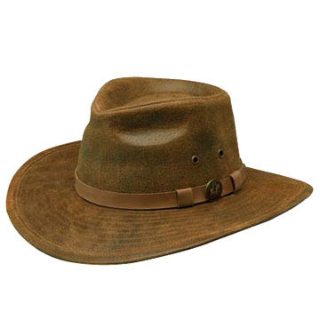 Outback Trading Men's Leather Kodiak Hat