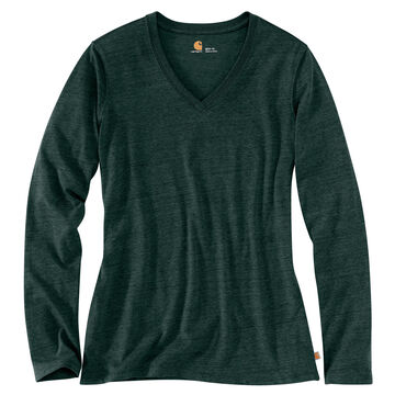 Carhartt Women's Lockhart V-Neck Long-Sleeve Shirt