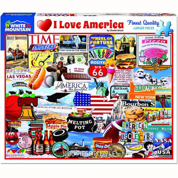 White Mountain Jigsaw Puzzle - I Love America