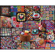 White Mountain Jigsaw Puzzle - Granny Squares