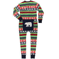 Lazy One Women's Sweater Bear Onesie Flap Jack