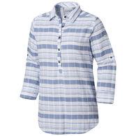 Columbia Women's Summer Ease Popover Tunic Long-Sleeve Shirt