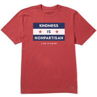 Life is Good Men's Kindness is Nonpartisan Crusher Short-Sleeve T-Shirt