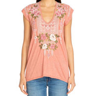 Johnny Was Women's Yuki Deep Scoop Short-Sleeve T-Shirt