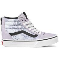 Vans Girls' Ward Hi Zip Slip-On Shoe