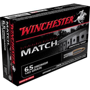 Winchester Match 6.5 Creedmoor 140 Grain BTHP Rifle Ammo (20)