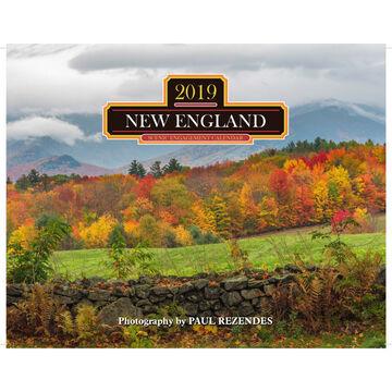 New England 2019 Wall Calendar by Mahoney Publishing