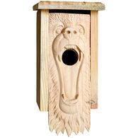 Welliver Carved Bear Bluebird Birdhouse