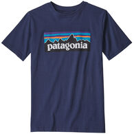 Patagonia Boy's P-6 Logo Organic Cotton Short-Sleeve T-Shirt