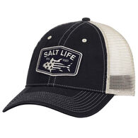 Salt Life Men's Red, White and Blufin Mesh Back Hat