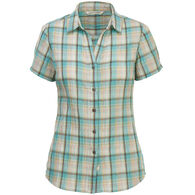 Woolrich Women's Carabelle Seersucker Short-Sleeve Shirt