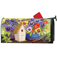 MailWraps Pansy Birdhouse Magnetic Mailbox Cover