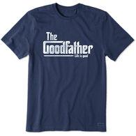 Life is Good Men's Goodfather Crusher Short-Sleeve T-Shirt