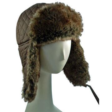 Surell Mens Faux Rabbit Trooper Hat