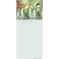 Pumpernickel Press Winter Birds Magnetic List Notepad