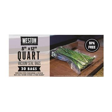 Weston Quart 8 x 12 Vacuum Bag - 30 Pk.
