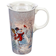 Evergreen Frosty Forest Friends Ceramic Travel Cup w/ Lid