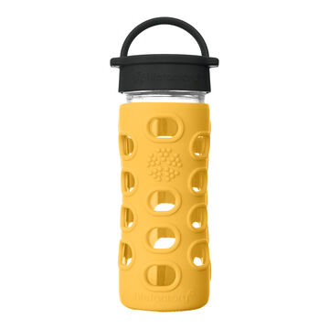 Lifefactory 12 oz. Glass Bottle w/ Classic Cap & Silicone Sleeve