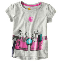 Carhartt Toddler Girls' Tool Belt Short-Sleeve T-Shirt