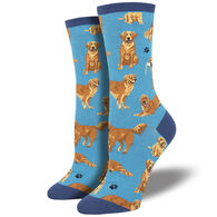Socksmith Design Women's Golden Retrievers Crew Sock