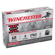 "Winchester Super-X 12 GA 3"" 1 oz. Rifled Slug Ammo (5)"
