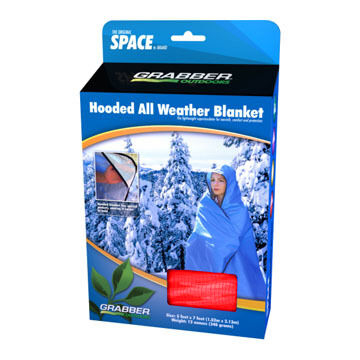 Grabber Space Brand Hooded All-Weather Blanket