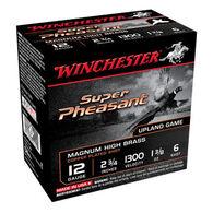 "Winchester Super-X Super Pheasant Magnum High Brass 12 GA 2-3/4"" 1-3/8 oz. #6 Shotshell Ammo (25)"