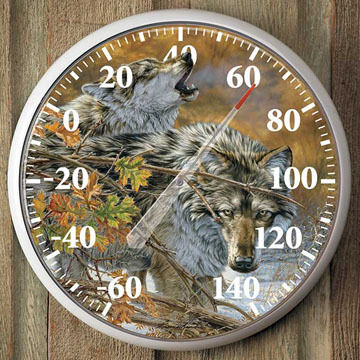 Wild Wings Wolves Thermometer