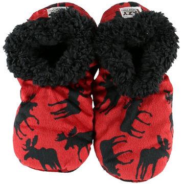 Lazy One Womens Classic Moose Fuzzy Feet Slipper
