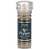 Maine Sea Salt Pepper & Maine Sea Salt Refillable Grinder - 3.6 oz.