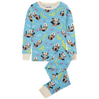 Hatley Toddler Girl's Little Blue House Playful Otters Pajama Set