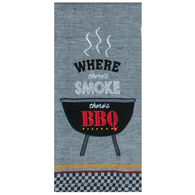 Kay Dee Designs Smoke BBQ Embroidered Tea Towel