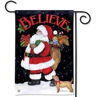 BreezeArt Believe in Santa Garden Flag