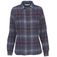 Woolrich Women's Bering Wool Plaid Long-Sleeve Shirt