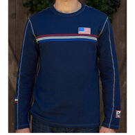 Alp N Rock Men's Team USA Crew Neck Long-Sleeve Shirt