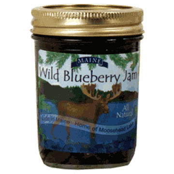 Bar Harbor Jam Company Blueberry Jam with Moose Label, 10 oz.