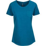 North River Women's Pigment Slub Jersey Crew Short-Sleeve Short